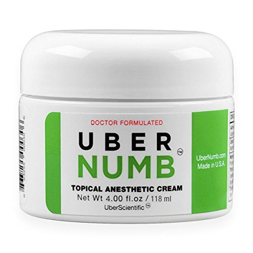 UberScientific UberNumb : : 5% Lidocaine Topical Anesthetic Cream 4 oz, Advanced Formula, Rapid Absorption, Non-Oily, Made in USA  Advanced formula pre-treatment numbing gel - 4.0 oz / 118g - 5% lidocaine  100% money-back guarantee: if you are less than 100% satisfied with ubernumb, for any reason, we urge you take advantage of our no questions asked refund policy. Ubernumb really works!  Liposomal lidocaine leads to deeper penetration into epidermal and dermis layer where the sensitiv...
