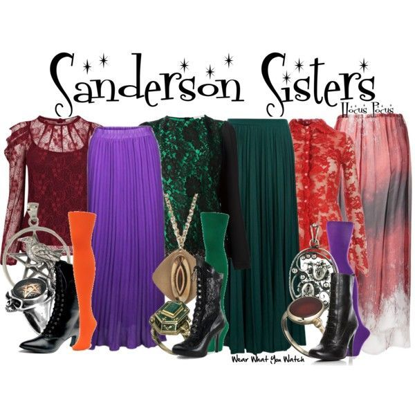 @kevwinchester - HALLOWEEN COSTUME REQUEST - Inspired by the Sanderson Sisters from the 1993 Disney film Hocus Pocus - Shopping info! **The Sanderson Sisters are a great idea for a trio! Maxi skirts...