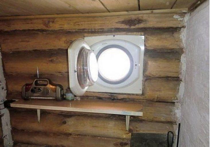 креативное окно для дачи