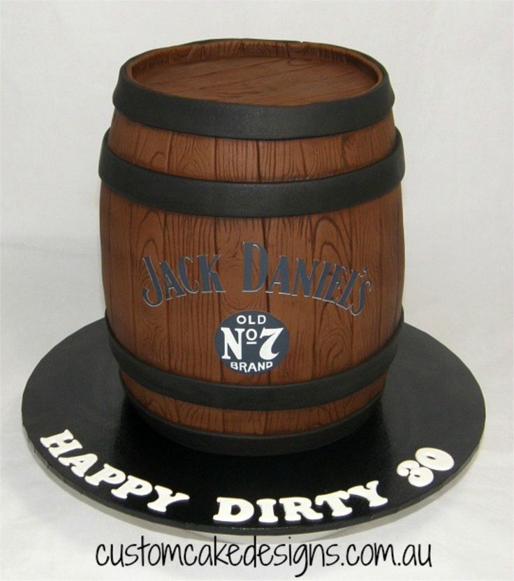 This 3D Jack Daniels Whiskey barrel cake was made to...