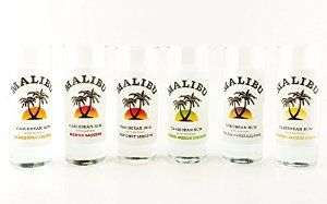 Enjoy the best rum in the world in these Malibu Rum shot glasses!