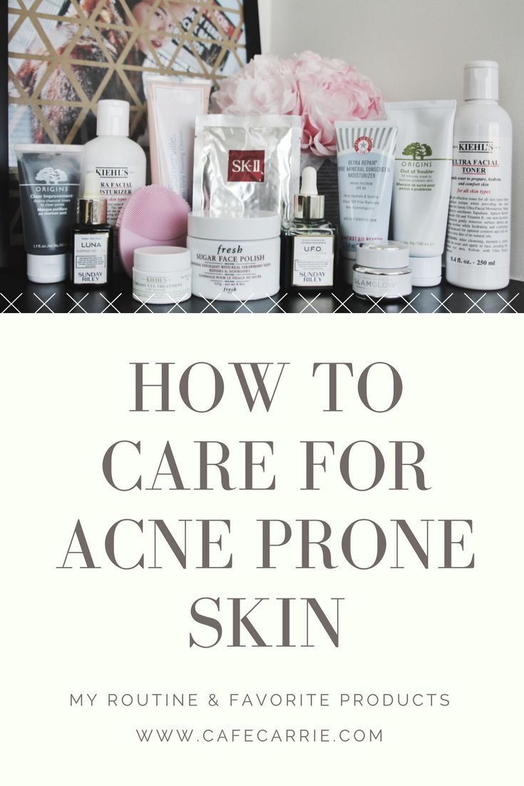 Care For Acne Prone Skin My Routine Favorite Products With