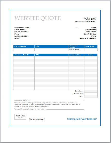 Website Design Quote Template Design Graphics – Graphic Design Quote Template