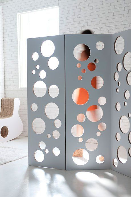 BUBBLES paravento in cartone ondulato di Gloook - design Objmao