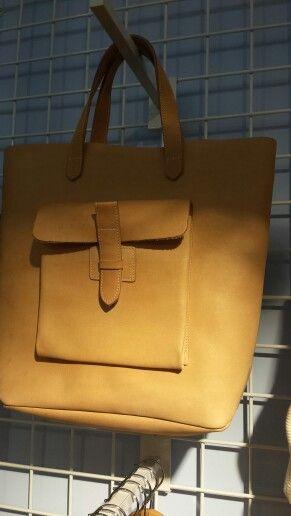 Leuke leren tas! Zelf maken....