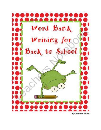 School report writing word bank