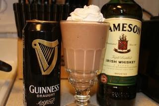 Guinness Jameson Chocolate Milkshake | irish party | Pinterest