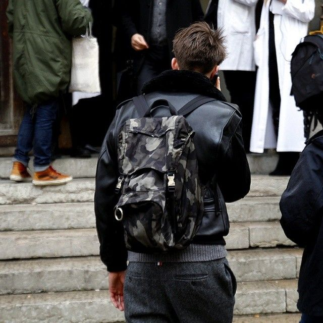 prada camouflage still looks the best... especially on a backpack ...
