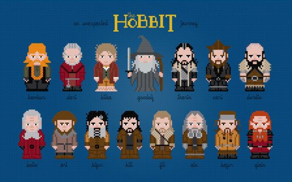 The Hobbit Movie Characters - Digital PDF Cross Stitch Pattern