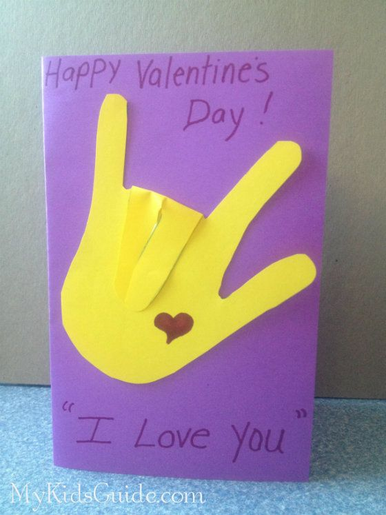 Valentine Craft for Kids photo...lol I think I'll make this card for my daughter, she loves sign language