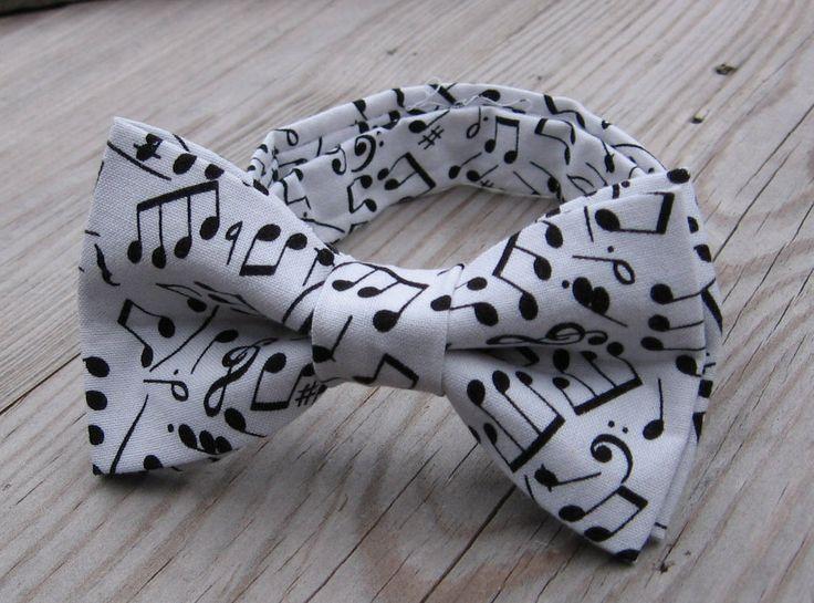 boys black bow tie children's music bow tie recital music mens music tie notes music concert kids white black bow tie birthday black bow tie by KoppSHOPP on Etsy