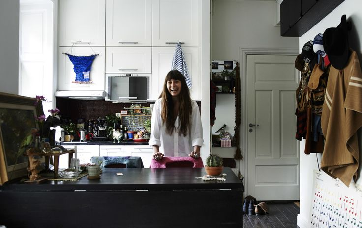 In a studio apartment kitchen, pack cabinets in as high as they'll go | At home with Nor in #IKEAFAMILYMAGAZINE