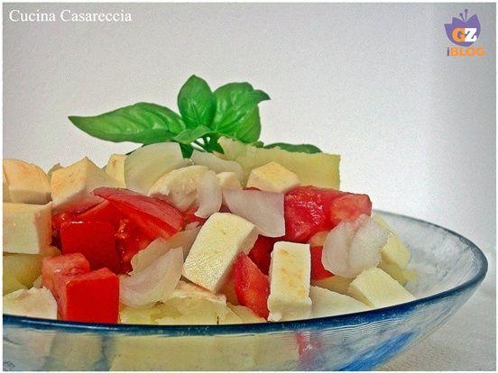 Insalata di patate pomodoro e mozzarella