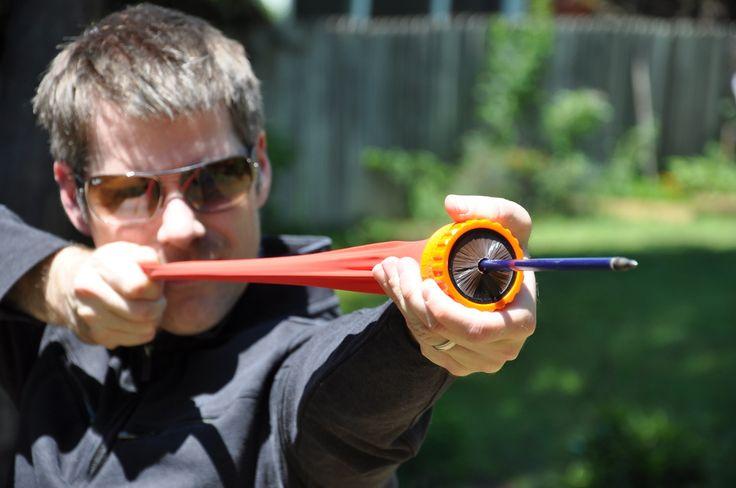vat19, coolstuff, compact, powerful, circular, slingshot, the pocket shot,  up to 350 feet per second.