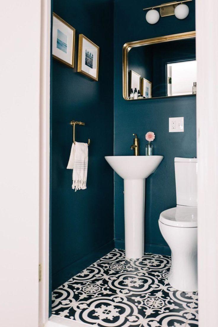 Elegant Dark Green Cloakroom In 2020 Small Space Bathroom Powder Room Paint Bathroom Colors
