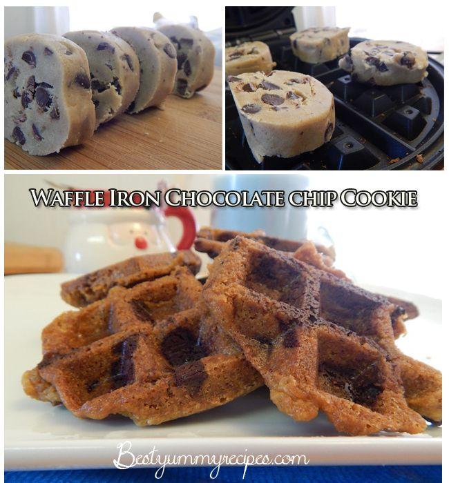 Waffle Iron Chocolate chip Cookies | waffle iron madness | Pinterest