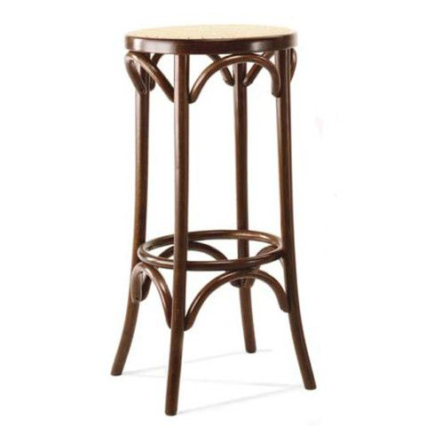 Thonet bentwood stool with cane seat