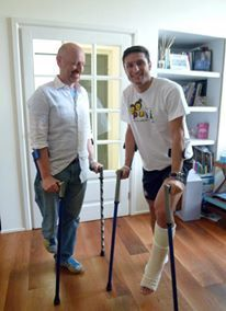 RENATO BRIGNONE E JAVIER ZANETTI.-the best crutch ever built. www.tompoma.com