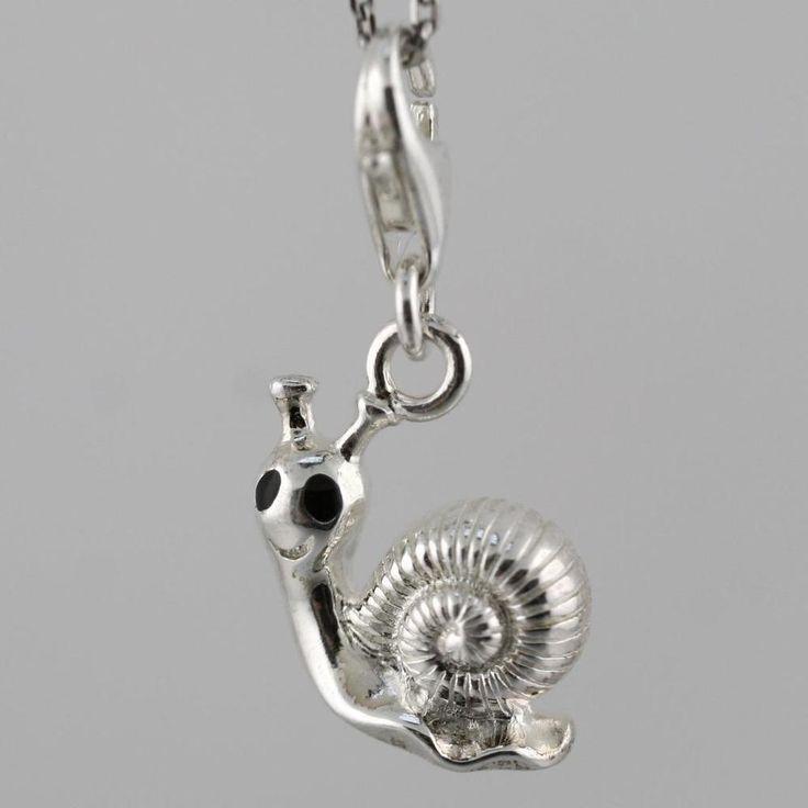 Thomas Sabo Silver Black Enamel Snail Charm 0879-007-12 Charms Club | eBay