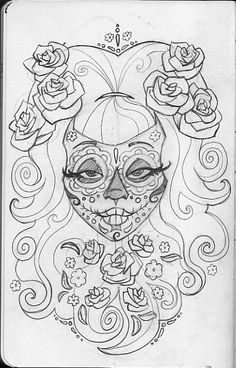free sugar skull coloring pages - Sugar Candy Skulls Coloring Pages