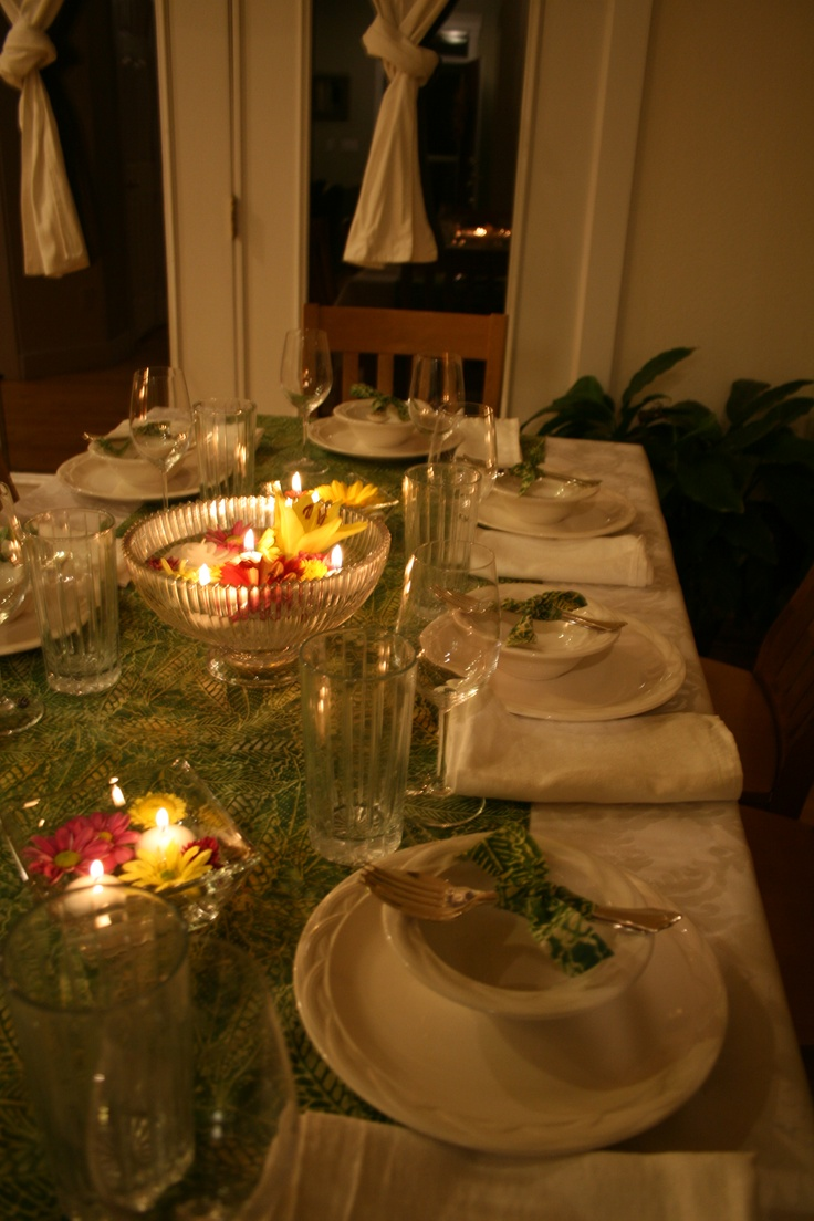 tablescape for thai dinner party grown up party decor
