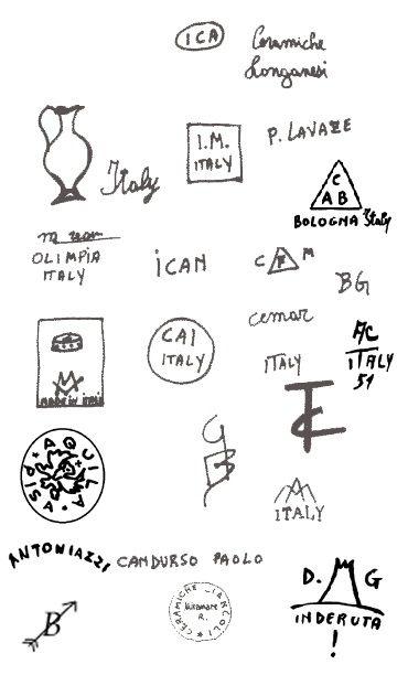 марки и клейма итальянская керамика не известны 2