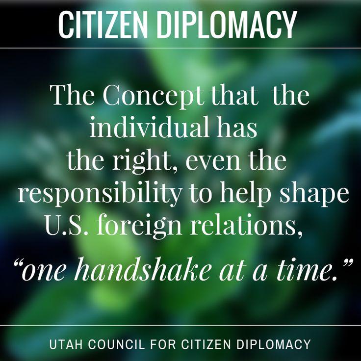 What is Citizen Diplomacy? #citizendiplomacy @CitDiplomacy