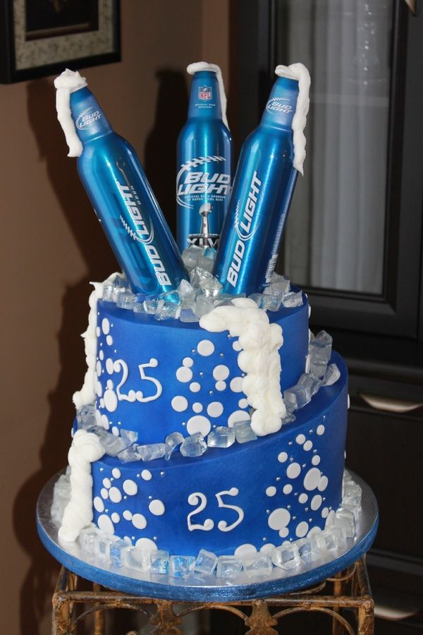 "bud light birthday cakes | ... from isomalt. This was for a ""second"" 25th birthday AKA 50th birthday"