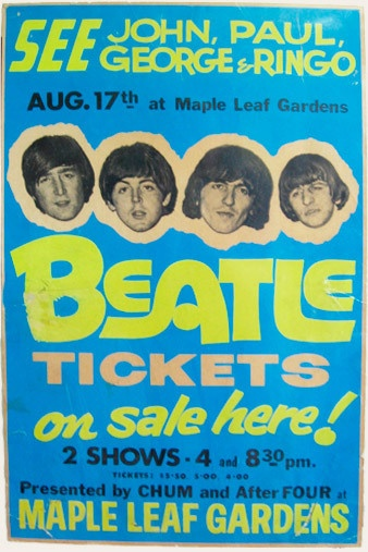 The Beatles perform at Maple Leaf Gardens, Toronto, Ontario.