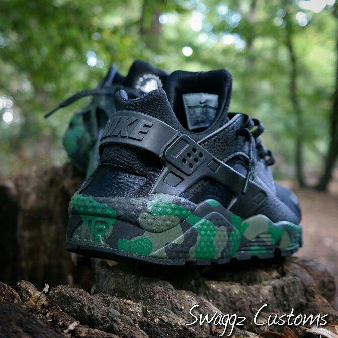 Forest Camo Custom Huaraches Sneakers