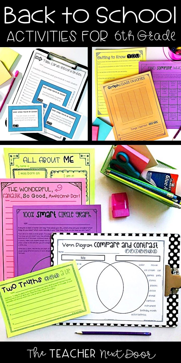 small resolution of The Back to School Activities for 6th Grade is a 38 page set of worksheets
