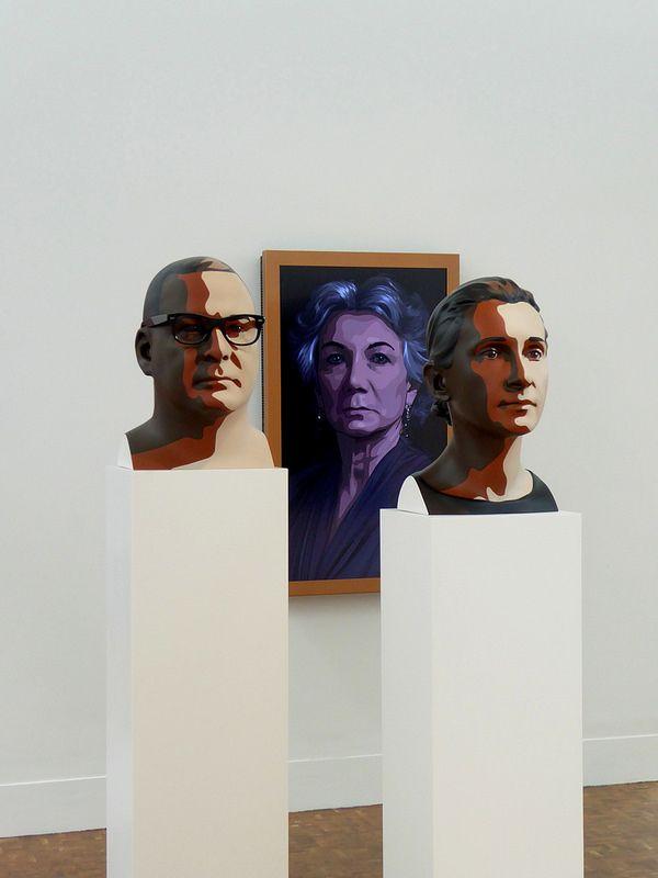 Julian Opie Exhibition: Reed I (2012), Delphine I (2012)