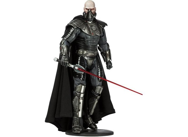 Sideshow Collectibles is proud to introduce the Darth Malgus Sixth Scale figure from the massive multiplayer online title, The Old Republic. Join the battle! The fearsome Sith commander is crafted on a fully articulated body, outfitted with highly detailed Sith Raider armor and a distinctive lightsaber. With unique accessories, including a removable respirator mask and hooded fabric cape, the Darth Malgus Sixth Scale figure is an outstanding addition for Star Wars collectors.