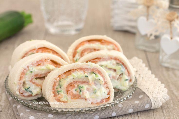 Girelle salmone e zucchine cremose senza cottura