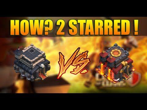 Clash Of Clans - TH9 VS TH10 - 2 Stars Th10 max War Base!