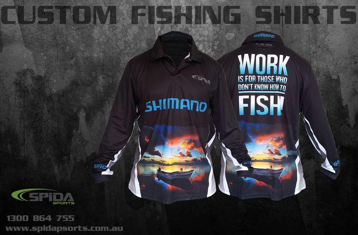Custom Fishing Shirts with Sunset Design