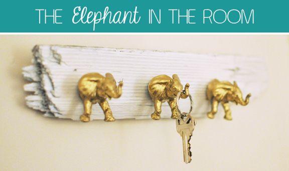DIY Elephant Key Hooks!!
