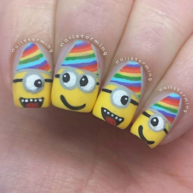 nailstorming birthday minions #nail #nails #nailart