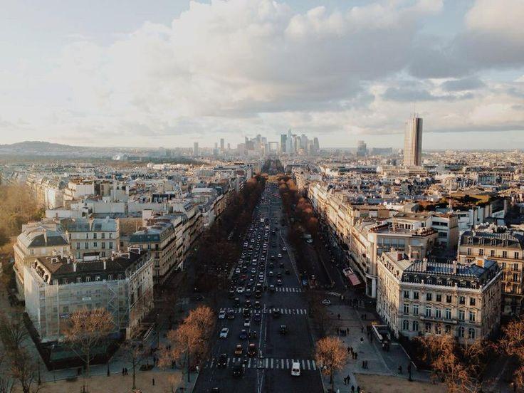 Paris! ~ view from the Arc de Triomphe
