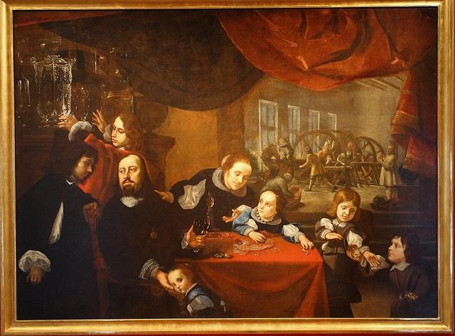 Karel ŠKRÉTA - Podobizna řezače drahokamů a jeho rodiny, kolem 1653 by Ondra Havala, via Flickr