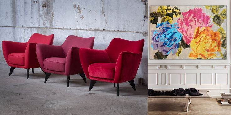 Blooming Florals Comforting Cool Tones And Bursts Of Red Furnishings Are What Designers Predict