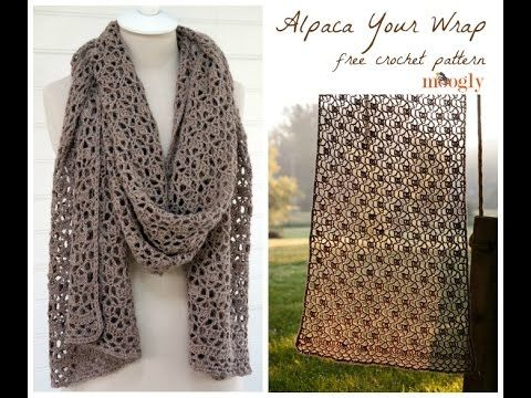 Learn the stitch repeat for the Alpaca Your Wrap shawl - a free crochet pattern on Moogly! Get the pattern and details on what you saw in the video at http:/...