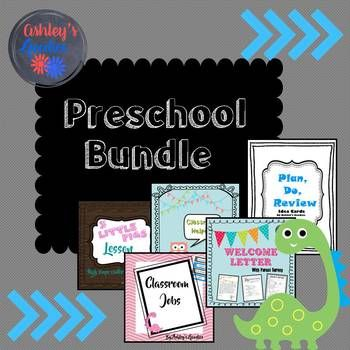 This bundle pack is made for Preschool classrooms but could also be used for Kindergarten-3rd(ish). Included in this Preschool Bundle pack: Welcome Letter with Parent Survey Preschool Assessment Meet the Student/Meet the Teacher Plan/Do/Review idea cards 3 Little Pigs Lesson Plan Lesson Plan Template (made for