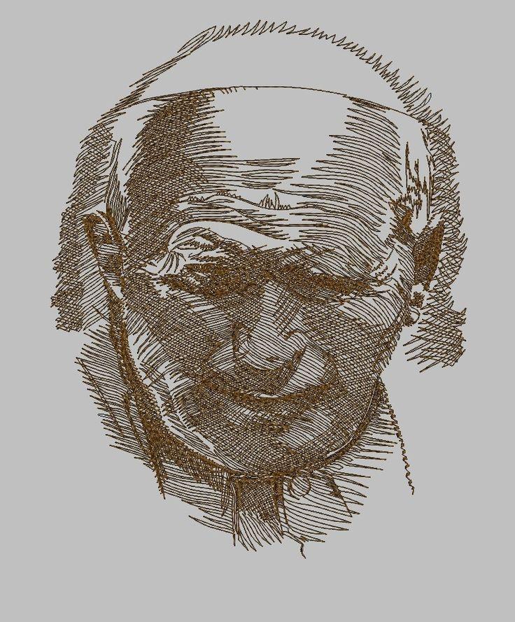 haftowany wg Słani portret Jana Pawła II