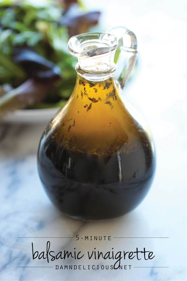 Homemade Balsamic Vinaigrette - Why get store-bought dressing when you can make this in 5 min? Doesn't get easier (or cheaper) than that!