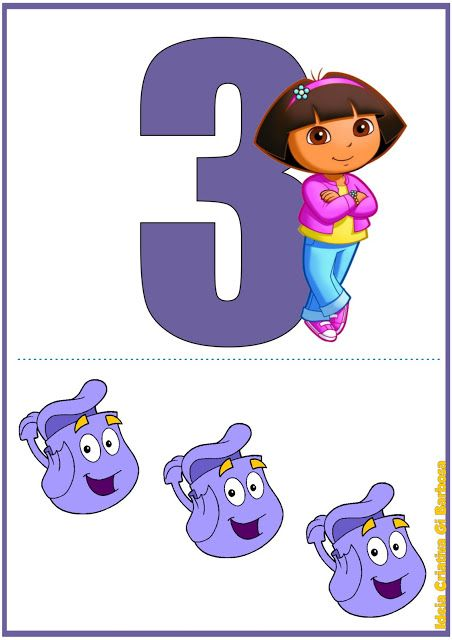 Numerais de Parede Dora Aventureira