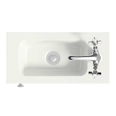 The Bath Co. Camberley white cloakroom vanity unit with resin basin   VictoriaPlum.com