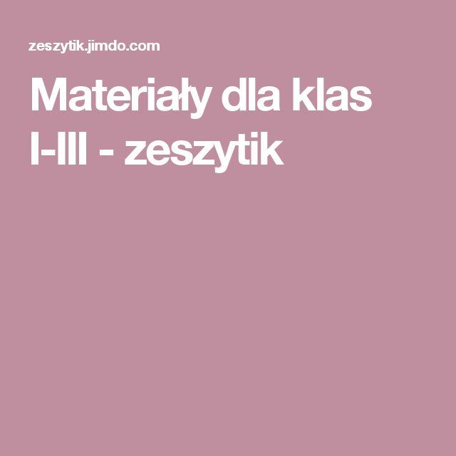 Materiały dla klas I-III - zeszytik