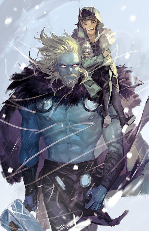 Kid Loki and Jotun Thor | Marvel | Loki marvel, Loki thor
