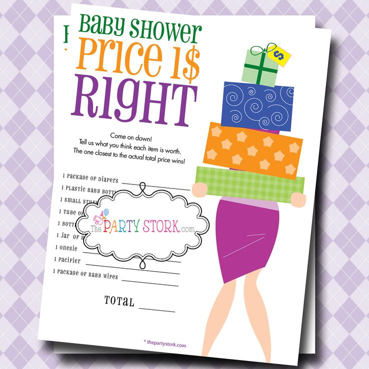 The Price Is Right Baby Shower Game, PRINTABLE, Many More Fun Games To  Choose